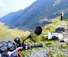 transfagarasan in this motorcycle tour of Transylvania